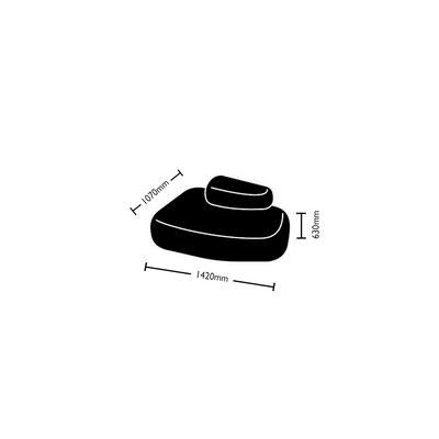 Dimensions for Hitch Mylius Office HM63b Pebble Seating