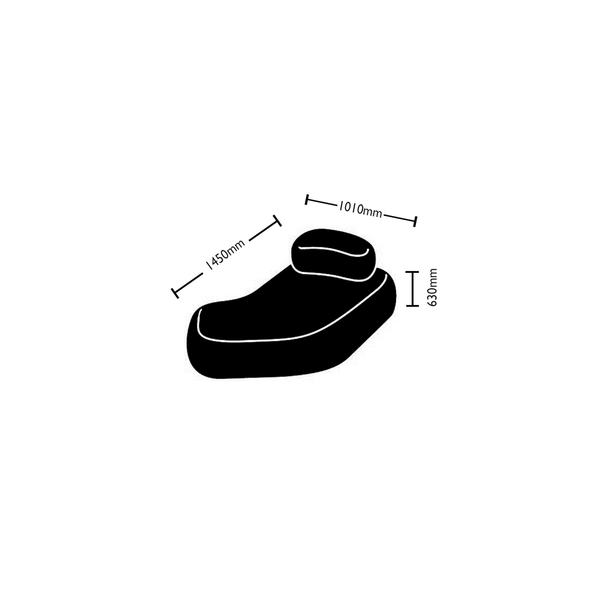 Dimensions for Hitch Mylius Office HM63c Pebble Seating
