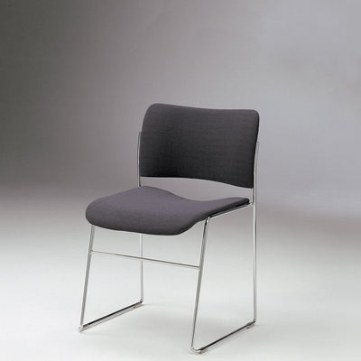 HOWE 40/4 Fully Upholstered Lead Side Chair with Chrome Base by David Rowland