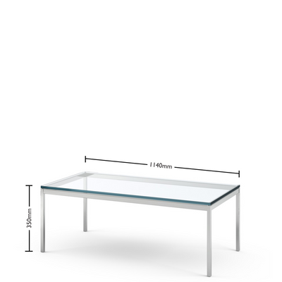 Dimensions for Florence Knoll Coffee Table