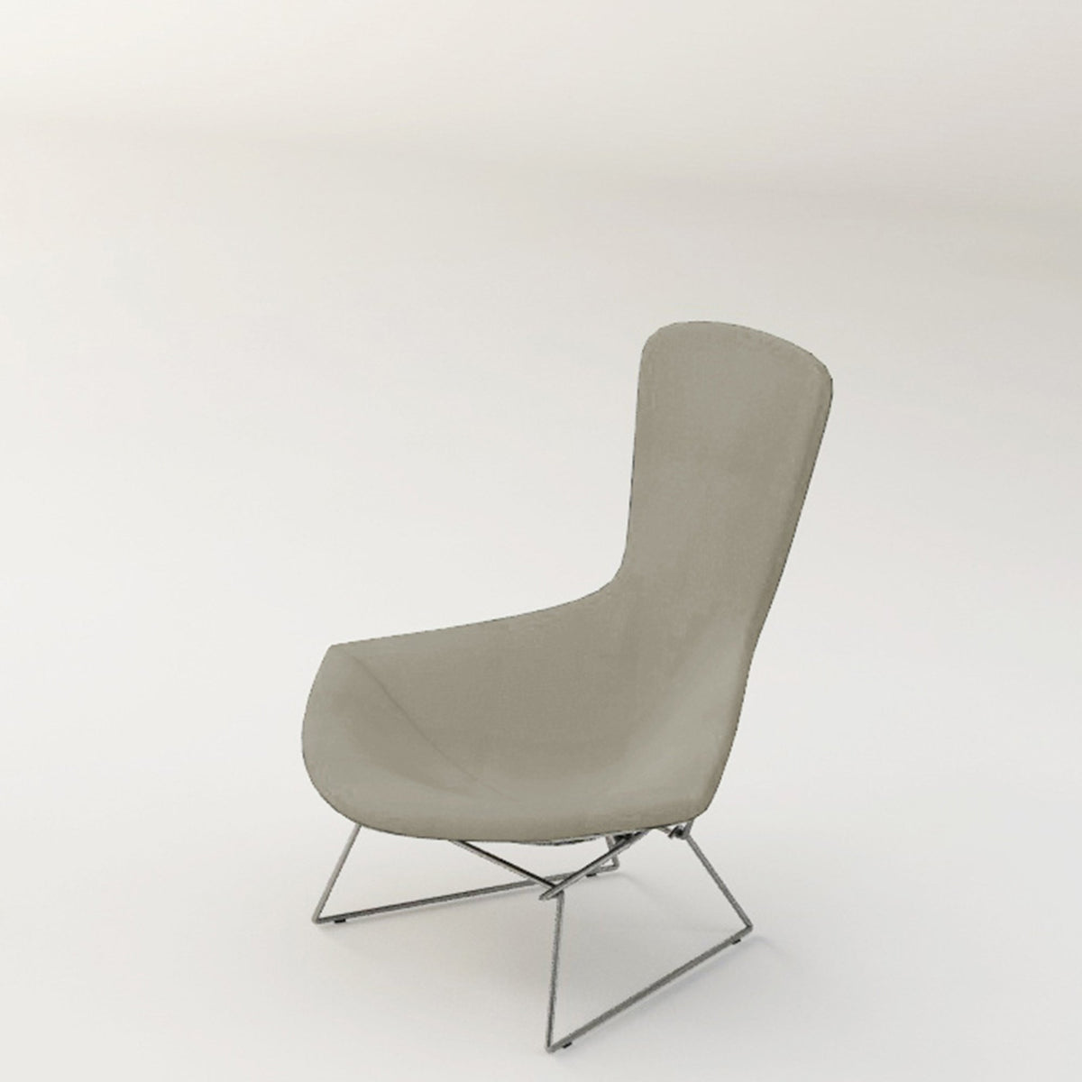 Knoll Bertoia Bird Lounge Chair Taupe Green 0613