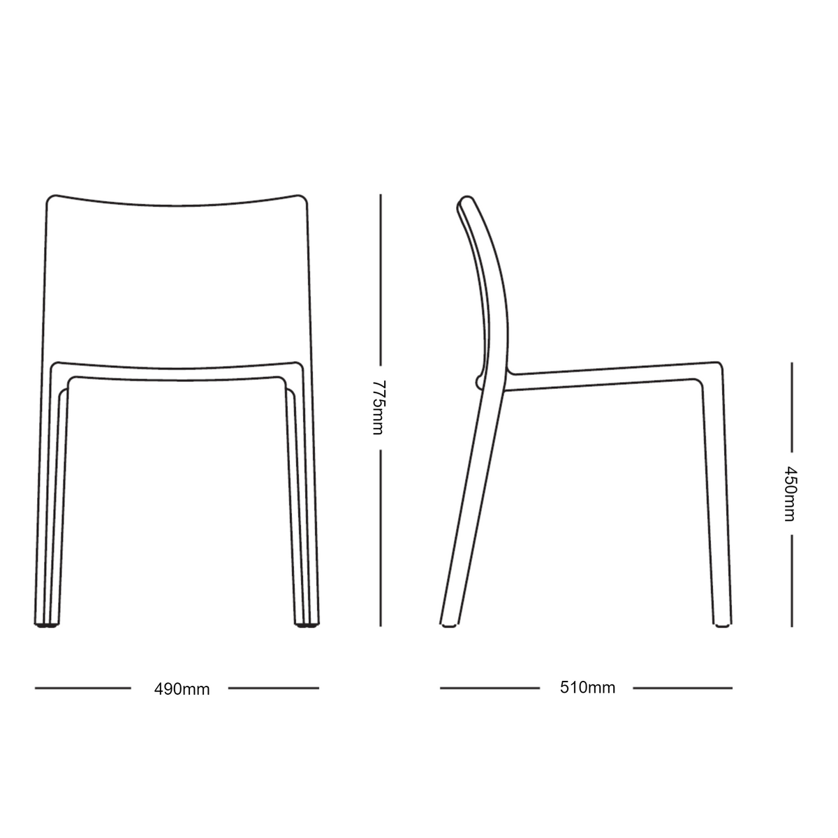 Magis - Air Chair by Jasper Morrison - Set of Four