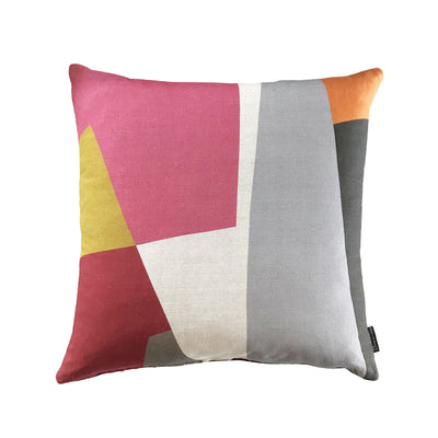 Eve Waldron Design Office Cushion Red Windows 500 x 500mm