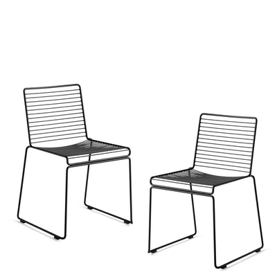 HAY - Hee Dining Chair - Pair - Pair of Black Chairs