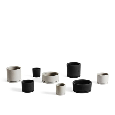 HAY Office Packs of Plant Pots with Matching Saucers