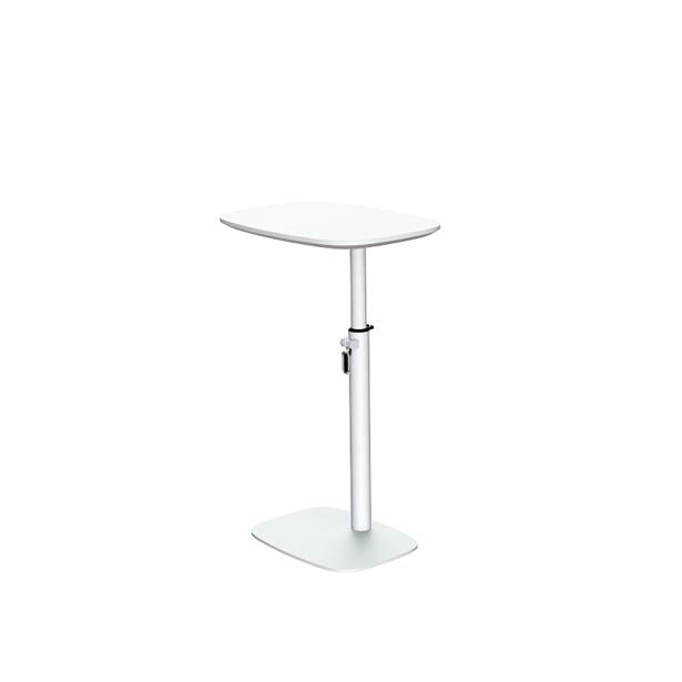 sixteen3 White Adjustable Laptop Table with Powder Coated Steel Frame and Laminated MDF Top