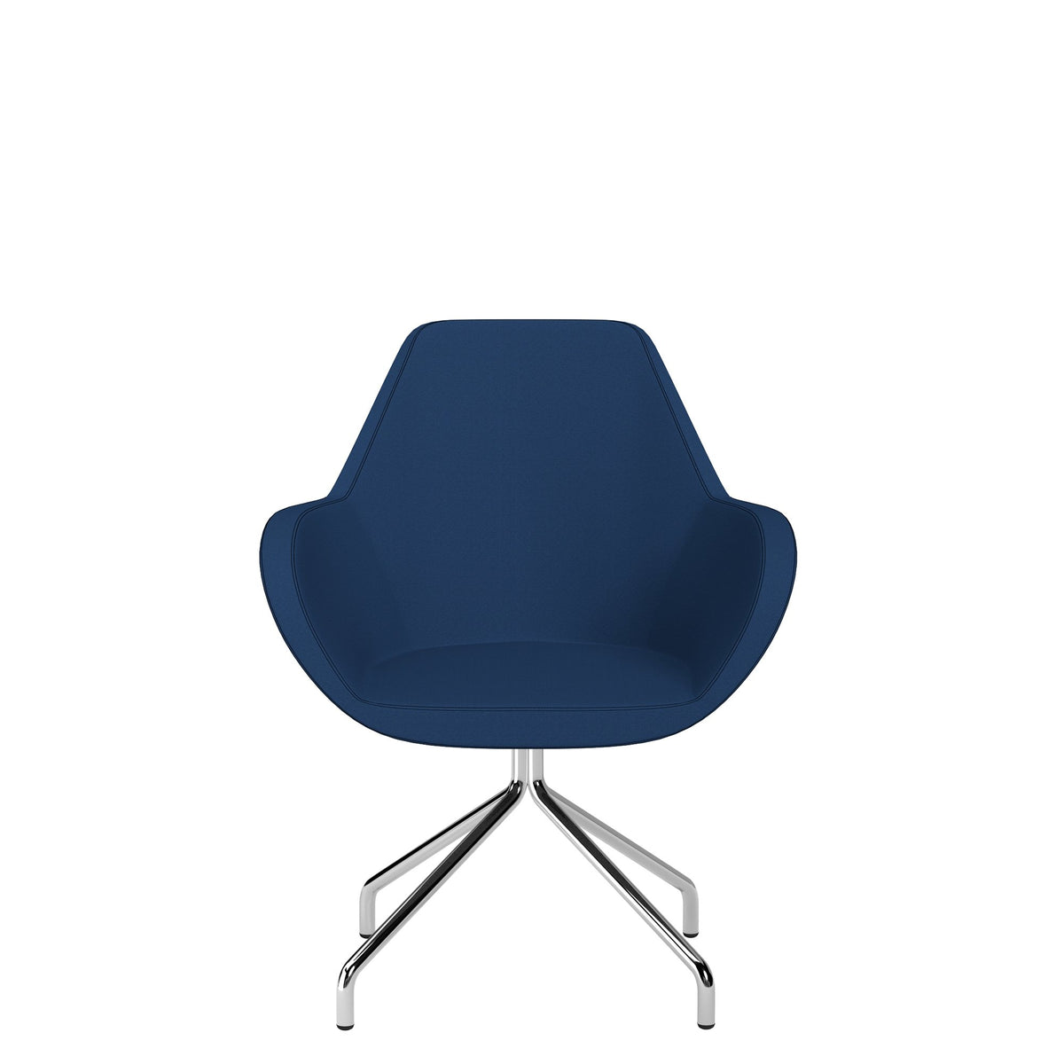 Spacestor Office Fan Chair with Swivel Base Dark Blue