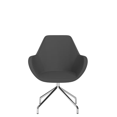 Spacestor Office Fan Chair with Swivel Base Dark Grey
