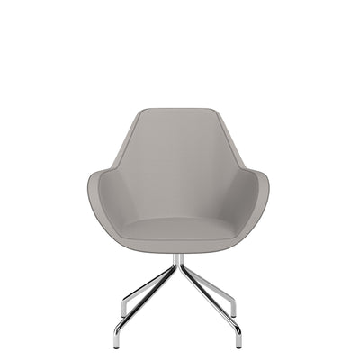 Spacestor Office Fan Chair with Swivel Base Light Grey