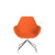 Spacestor Office Fan Chair with Swivel Base Orange