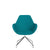 Spacestor Office Fan Chair with Swivel Base Turquoise