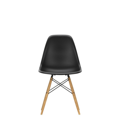 Vitra Eames DSW Plastic Side Chair Deep Black 12