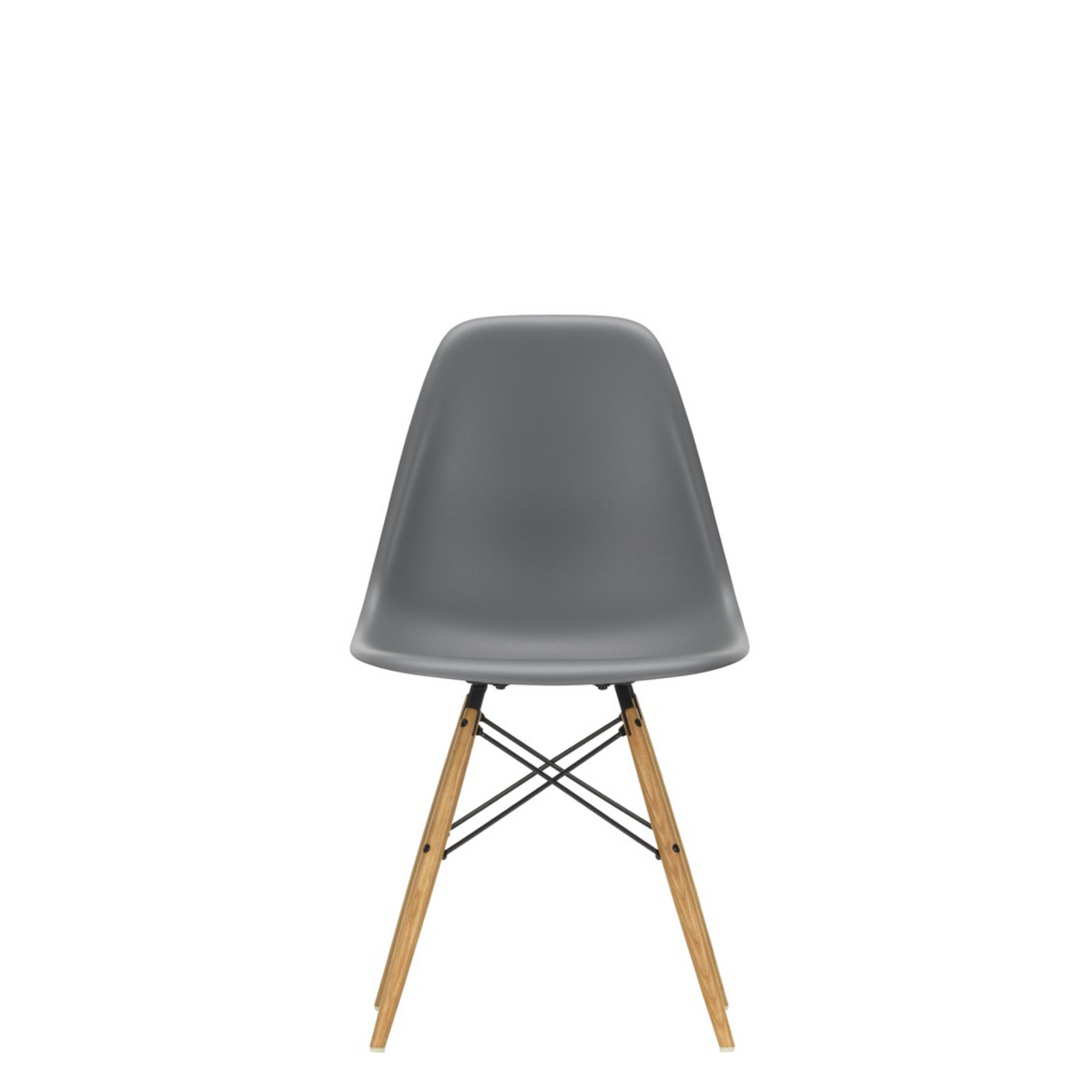 Vitra Eames DSW Plastic Side Chair Granite Grey 56