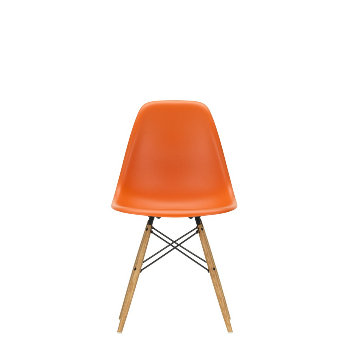 Vitra Eames DSW Plastic Side Chair Rusty Orange 43