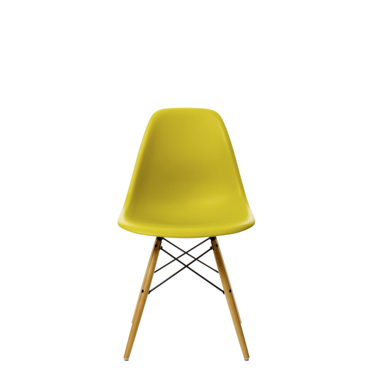 Vitra Eames DSW Plastic Side Chair Mustard 34