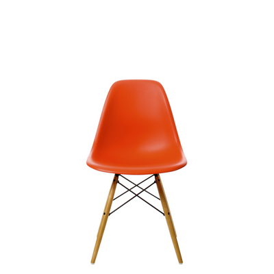 Vitra Eames DSW Plastic Side Chair Poppy Red 03