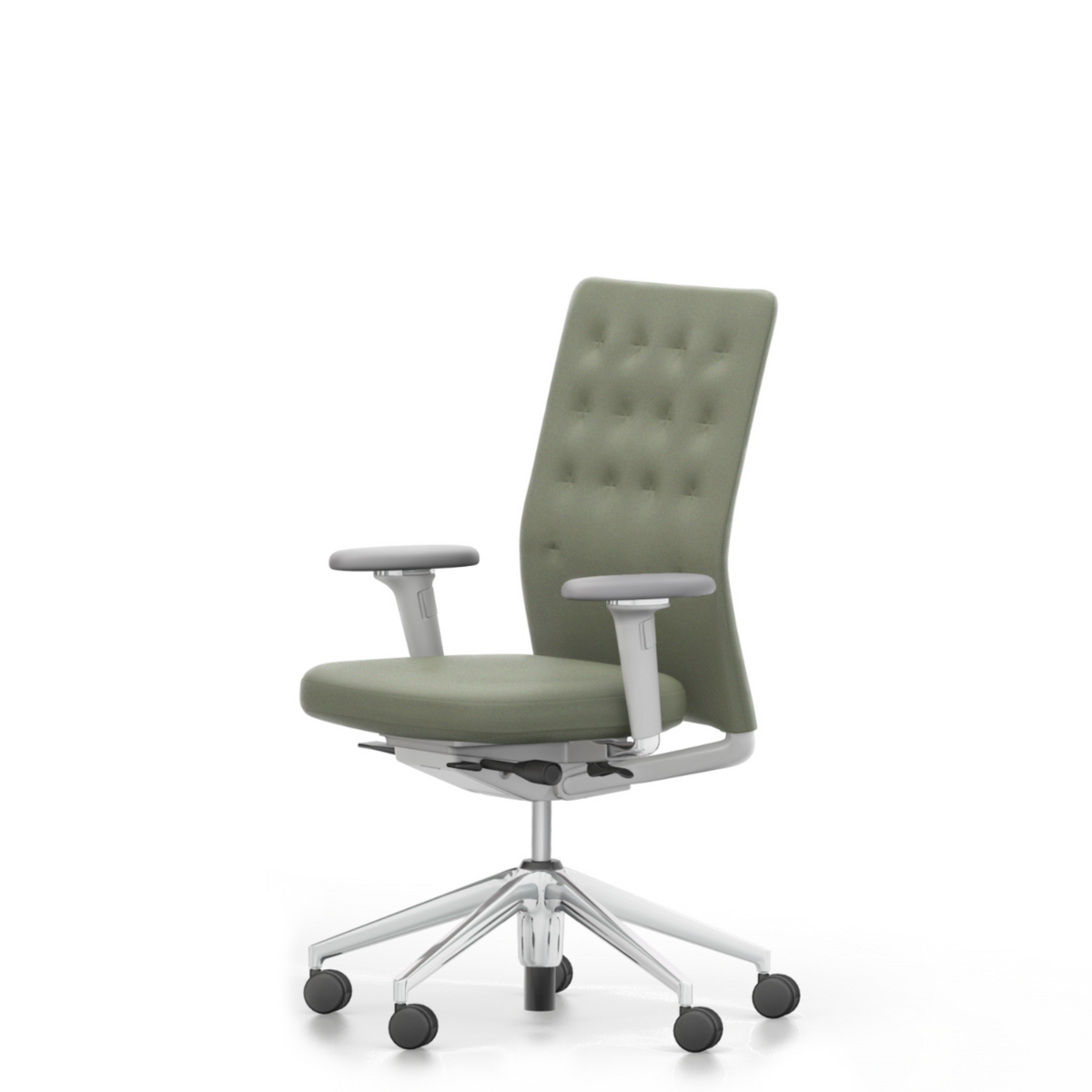 Vitra Office Task Chair ID Trim by Antonio Citterio Polished Aluminium Base Jade Green