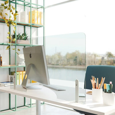 Freestanding Protective Desk Screens - Pair