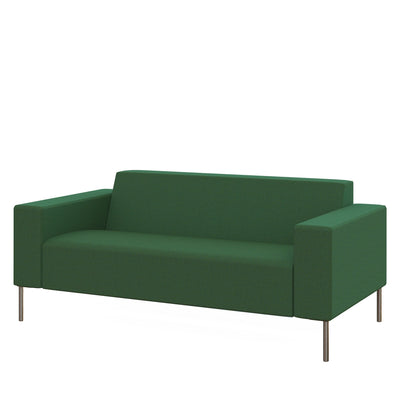 Hitch Mylius Office HM18 Farringdon Origin Two Seat Sofa with Brushed Stainless Steel Legs