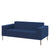 Hitch Mylius Office HM18 Holborn Origin Two Seat Sofa with Brushed Stainless Steel Legs