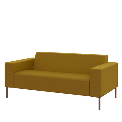 Hitch Mylius Office HM18 Tooting Origin Two Seat Sofa with Brushed Stainless Steel Legs