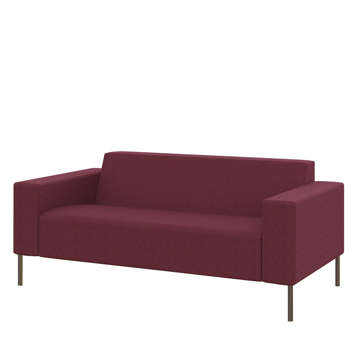 Hitch Mylius Office HM18 Wembley Origin Two Seat Sofa with Brushed Stainless Steel Legs