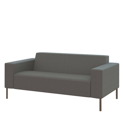 Hitch Mylius Office HM18 Camden Origin Two Seat Sofa with Brushed Stainless Steel Legs