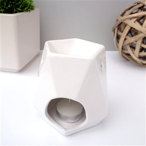 White - Picasso Cereamic Wax Melter / Oil Burner