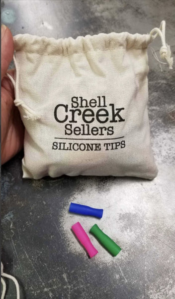 Colorful Silicone Tips 100 count bag - ShopToute.com