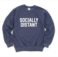 Socially Distant Graphic Sweatshirt - ShopToute.com