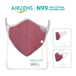 Airlens N99 Protection Mask Washable 'Red'
