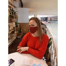 Load image into Gallery viewer, face masks Jova Red # - JOVAJOVA-Fashion-Studio