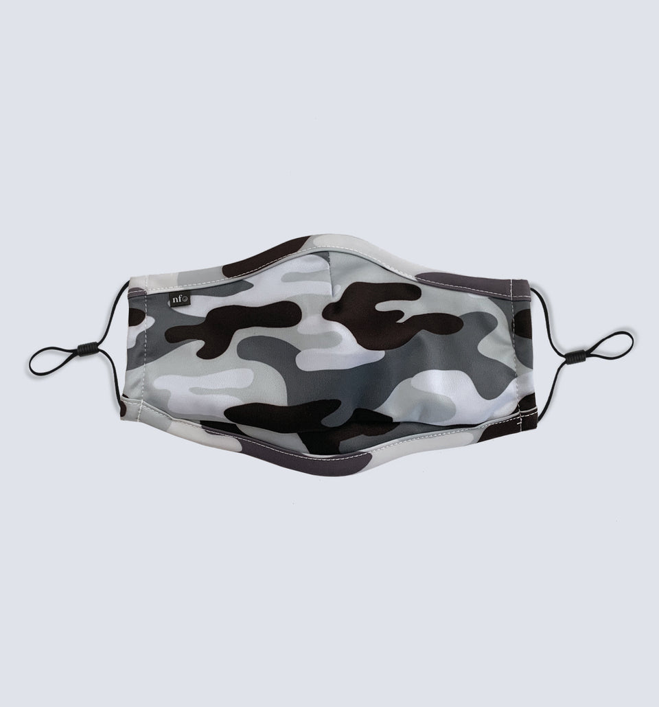 Adult Black Camo Face Mask - NiiceFace