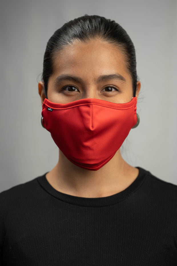 Adult Red Face Mask 1
