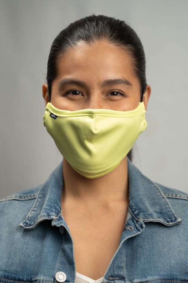 Adult Neon Green Face Mask 1