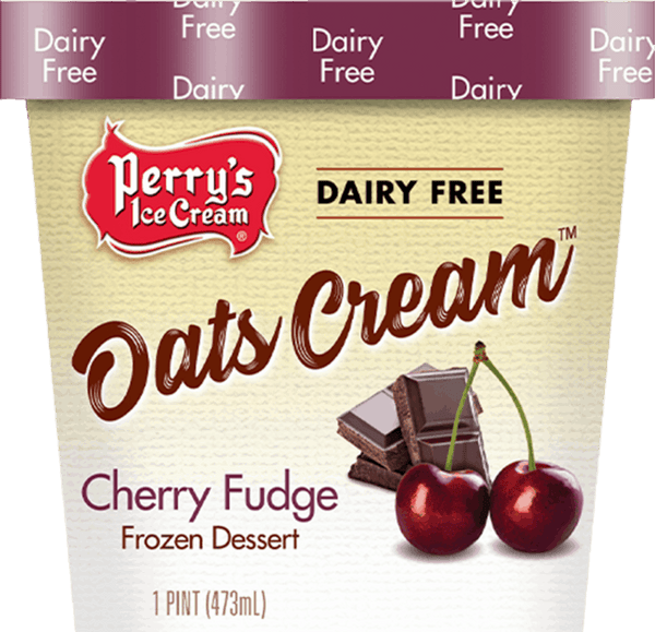 Cherry frozen dessert with other natural flavors, black cherries and fudge chunks!