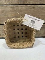 "Perfect catch-all basket for counter top, display, or gifting. Locally made in the Hudson Valley by master basket weaver, Mary Ann Williams. Approximate size 6"" h x 6"" w, square."