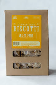 Traditional biscotti with almonds, made with gluten free flour, by the Gluten Free Baker (Our Daily Bread), Chatham, New York.  Great with coffee!