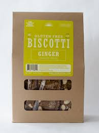 Traditional biscotti with ginger, made with gluten free flour, by the Gluten Free Baker (Our Daily Bread), Chatham, New York.  Great with coffee or tea!