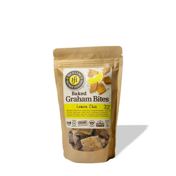 Ingredients Almond flour, *maple syrup, *sprouted almonds,*black chia seeds, *maple sugar, *lemon flavor (*sunflower oil, *lemon oil), *lemon peel, Himalayan crystal salt, *aluminum-free baking powder (*grape juice concentrate extract, *corn starch, sodium bicarbonate).  *Organic