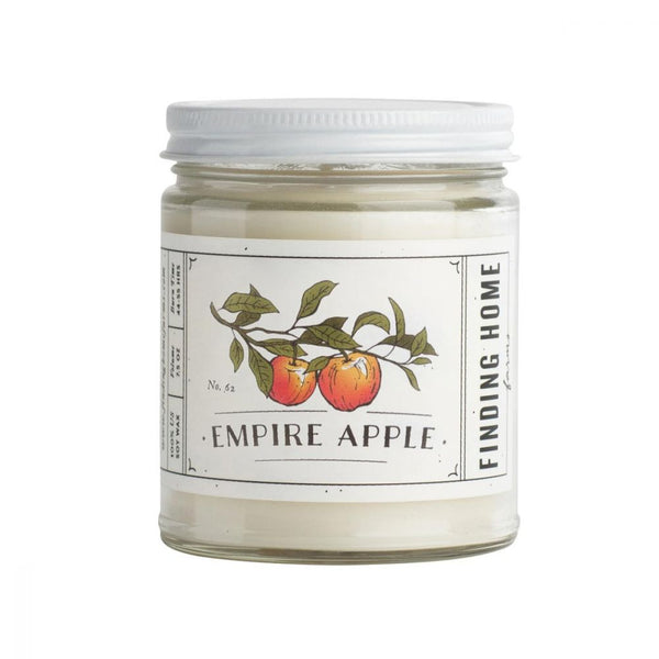A crisp aroma of freshly picked apples! 100% Soy Wax  wt: 13 oz.