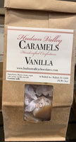 Handmade Caramels with cream from Hudson Valley Naturally favored Gluten free 5 ounce bag (approx. 17 pieces) Flavor: Vanilla.