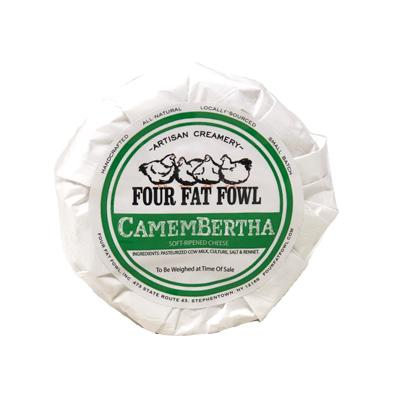 The latest creation from the cheesemakers at Four Fat Fowl. Not just another Camembert, this one has soul. A soft-ripened, bloomy rind with milky, vegetal tones. Bertha, you can come around here anytime!