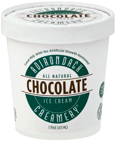 This chocolate ice cream is pure and simple with a deep decadent flavor that could only come from the highest quality all natural cocoa.  Ingredients: Cream, Milk, Cane Sugar, Cocoa (processed with Alkali,) Skim Milk Powder, Egg Yolks, Pure Vanilla Extract.  1 pint