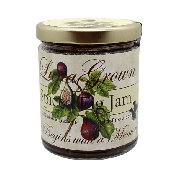 Spiced Fig Jam is great with smoked meats or cheese and is an added indulgence to any gathering. You can bake it with brie and serve it as a beautiful appetizer at your next social event or save it for yourself.  10 oz. glass jar is heat sealed in canning process.