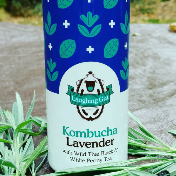 Earthy and floral lavender combined with wild Thai black tea and uplifting peony white tea; this kombucha delivers refreshing balance.  Brewed in Poughkeepsie, New York.  12 oz. slim aluminum can.