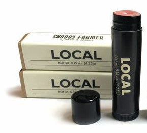 local Lip SHIMMER (clove + honey)  Ingredients: cera alba (beeswax), cocos nucifera (coconut oil), simmondsia chinesis (jojoba oil), bicinus communis, (castor seed oil), certified organic honey flavor oil, pure orange flavor oil, clove essential oil, mica, iron oxide   Sold individually   .15 oz