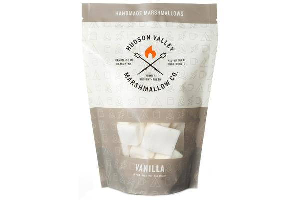 These 'mallows don't mind being Vanilla. Made with flavorful Madagascar vanilla beans, line up your hot cocoa, your favorite latte, and your skepticism. They've all met their match.  Handmade in small batches using all natural ingredients.     4 oz. resealable bag.
