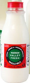 Hudson Valley Fresh premium milk comes from Hudson Valley farms that exceed all standards for excellence in milk quality. Among them 10 family-owned and operated herds are some that have placed in the top six in the United States time and time again and exceed industry standards for quality, protein, butterfat, and vitamin and omega 3 content, all naturally and without supplements.  Quick Facts / Per Cup 170 Calories 9 grams of protein 15% Vitamin D 20% Calcium  14 fl oz bottle