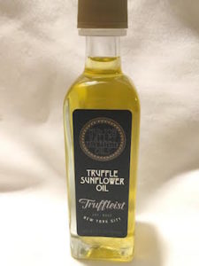 Do you love truffles? If so, then you will love our Truffle Sunflower Oil. This product is a collaboration of Hudson Valley Cold Pressed Oils and another NY company called The Truffleist. Our delicious Cold Pressed Sunflower Oil paired with their amazing black truffles. Suggested over pizza, pasta, vegetables, french fries, mashed potatoes and popcorn just to name a few.